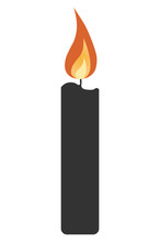 Simple Candle Icon With Shadow...