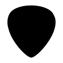 Guitar Pick Vector Icon Isolat...