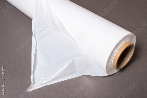 Photo  Roll of Polythene pallet film, wrap