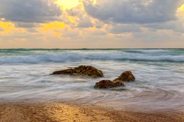 FototapetaSunset sea landscape.