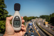 Schallpegelmessung an Autobahn