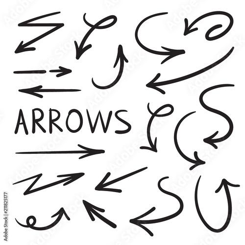Set for design. Arrows drawn manually. Canvas Print