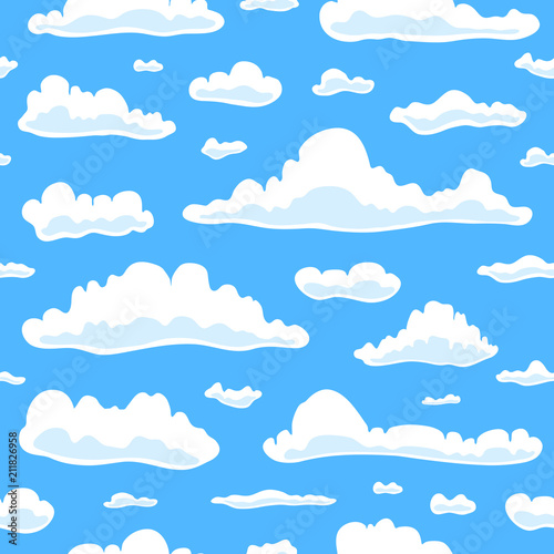 Poster Ciel Seamless pattern with clouds.