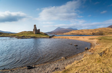 Ardvreck Castle Ruins In Scotland
