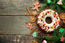 Bundt Cake With Fir-tree Branc...