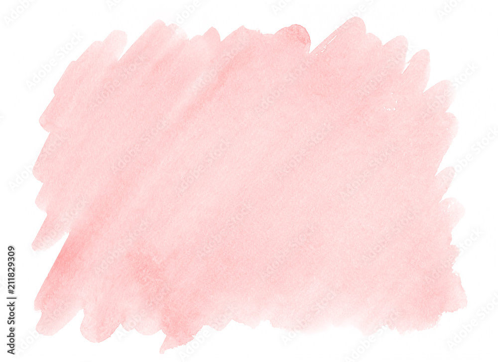 Fototapeta Pink watercolor background with a pronounced texture of paper for decorating design products and printing.