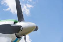 Aircraft Engine Blades Against The Sky