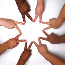 Diversity Hands In Unity. Peop...