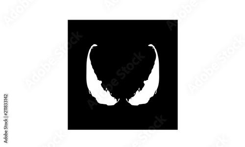 Photo Superhero Enemy Eyes with initial V logo design inspiration