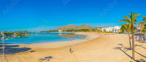 Alcudia beach between Port d'Alcudia and Can Picafort, Spain