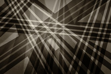 Brown Black And White Background With Abstract Geometric Design Of Layers Of Stripes, Lines, Triangle And Polygon Shapes With Texture And Soft Lighting In Sepia Color Tones