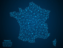 A Map Of France Consisting Of ...