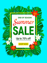 Summer Sale Banner. Seasonal P...