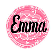 Vector Illustration With Lettering Name Emma. Hand Drawn.