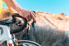 Detail Of Road Bike Handlebar