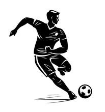 Soccer Player, Silhouette. Vec...