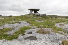 Poulnabrone Dolmen, The Burren, County Clare, Munster, Republic Of Ireland