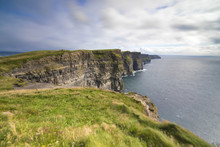 Cliffs Of Moher, Edge Of The Burren Region In County Clare, Munster, Republic Of Ireland