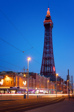 Blackpool Tower At Night, Blackpool, Lancashire