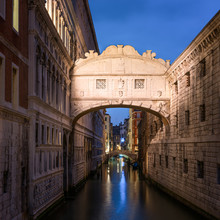 Bridge Of Sighs At Twilight, Venice, Veneto