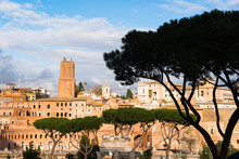 Ancient Rome City Skyline With...
