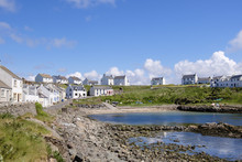 Cottages Around Harbour In Village Of Portnahaven, Isle Of Islay, Argyll And Bute, Inner Hebrides, Scotland