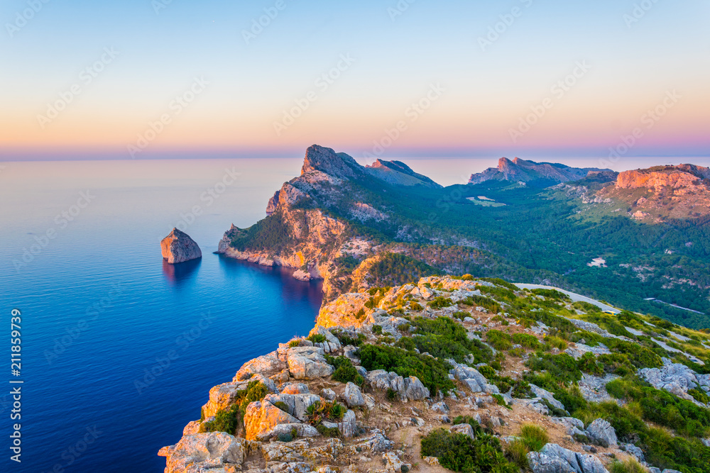 Fototapety, obrazy: Es Colomer islet near cap formentor at Mallorca, Spain