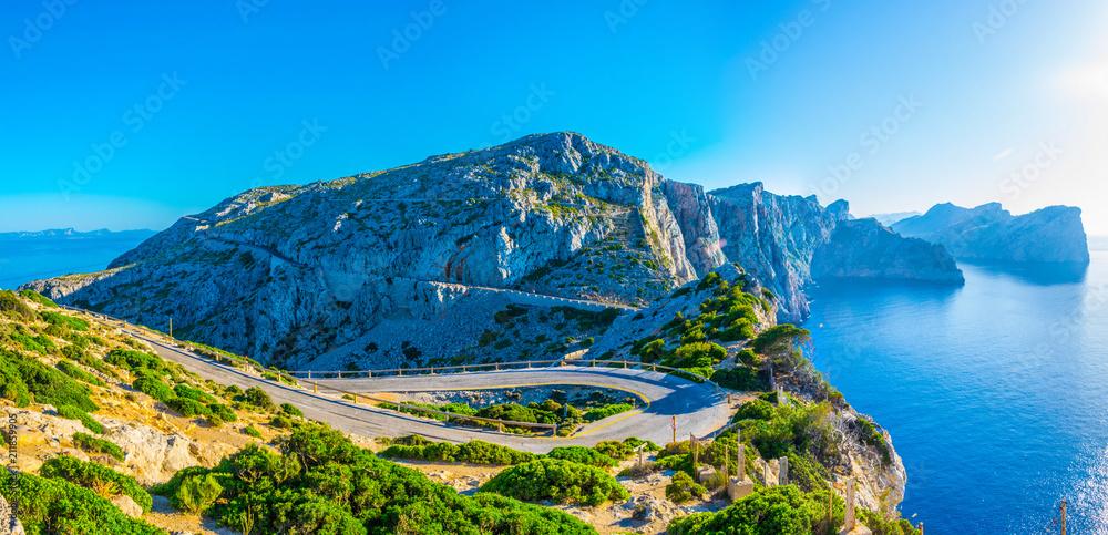 Fototapety, obrazy: A coastal road winding through Mallorca, Spain