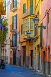 Fototapeta Uliczki - View of a narrow street in the historical center of Palma de Mallorca, Spain