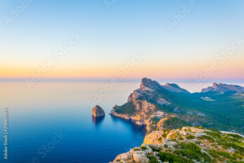 Stampa su Tela Es Colomer islet near cap formentor at Mallorca, Spain