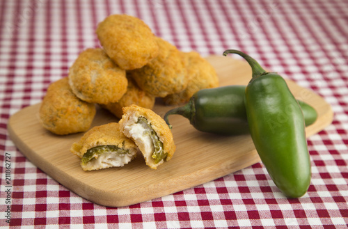 Jalapeno Poppers on a Red Gingham Tablecloth