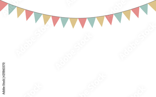 Blank Banner Bunting Or Swag Templates For Scrapbooking