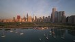 Chicago Drone Sunrise
