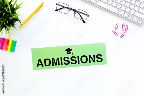 Photo College admission concept