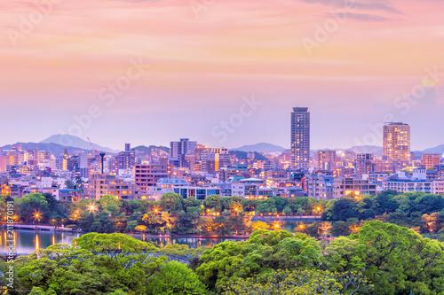 Deurstickers Asia land Fukuoka city skyline in Japan