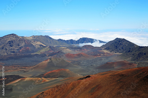 Spoed Foto op Canvas Blauw Landscape inside Haleakala crater - Haleakala National Park, Maui, Hawaii