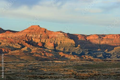 Foto op Aluminium Oranje eclat Sunset in Smoky Mountains, Utah