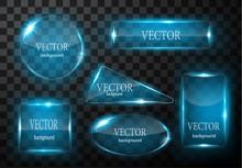 Glass Vector Button Plane. Eas...