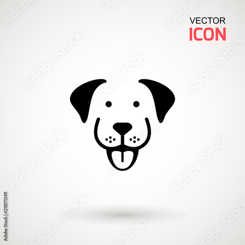 Photo  Dog head icon