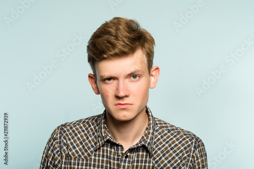 serious man is not impressed by you Fototapeta