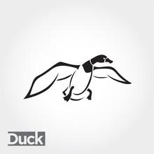 Flying Duck, Goose, Swan Logo ...