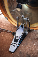 Close Up Of Bass Drum Pedal.