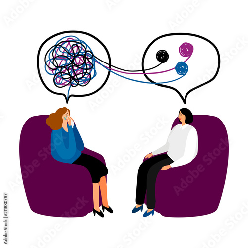 Foto Psychotherapy concept illustration