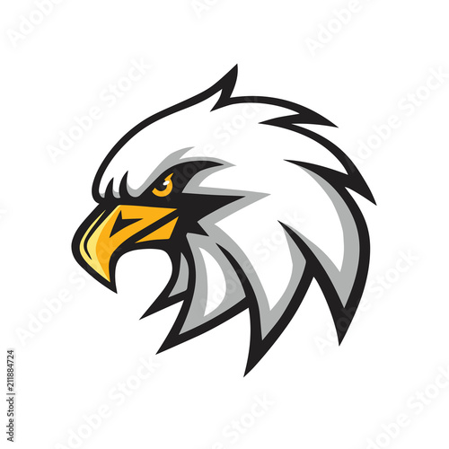 Eagle Mascot Sports Team Vector Logo Sign Tablou Canvas