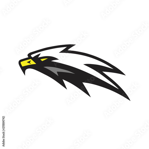 American Eagle Mascot Vector Logo Sign Icon Fototapet