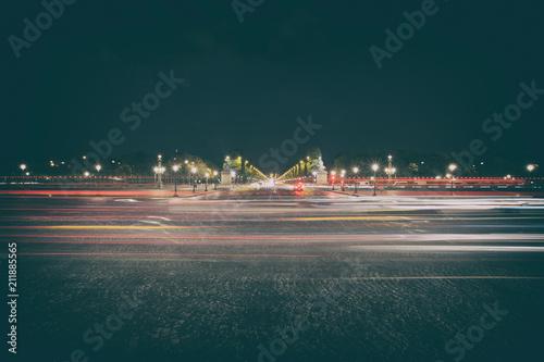 Staande foto Nacht snelweg Place de la Concorde
