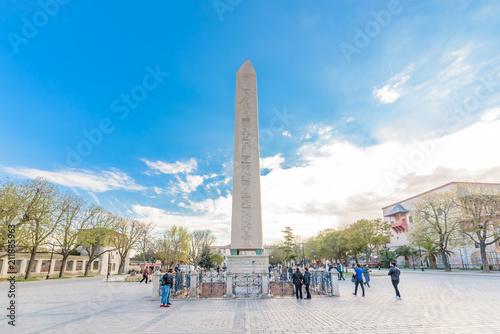 Carta da parati Obelisk of Theodosius or Egyptian Obelisk in Istanbul