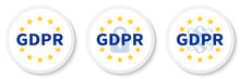 GDPR White Circle Sticker Set ...