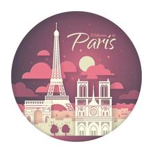 France. Paris With The Symbols...