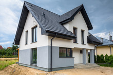 Newly Built House With A Finis...